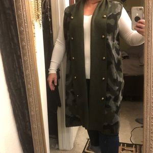Army style sweater vest